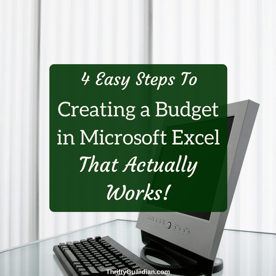create a budget in microsoft excel