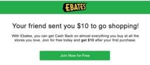 Make money online with Ebates