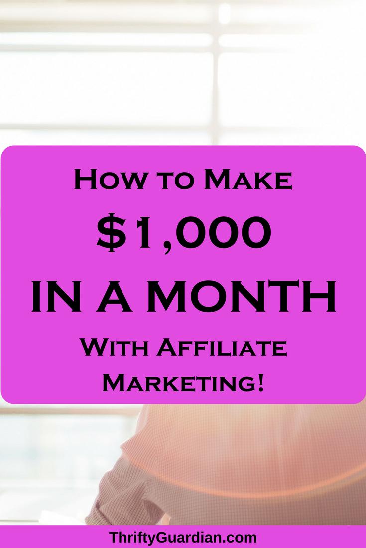 How to make money through affiliate marketing